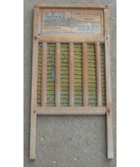 Antique Cuddles Co Good House Keepers Ribbed Brass Hand Wash Board Washb... - £54.38 GBP