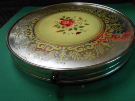 Great Vintage LAZY SUSAN..Mirror and Rose Decor - $17.41