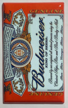 Budweiser Beer Logo Light Switch Power Duplex Outlet wall Cover Plate Home decor image 4