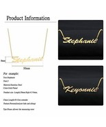 Custom Name Necklace Gold SIlver Plated Personalized Cursive Font Pendan... - $10.10