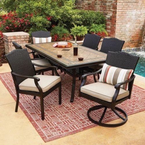 Clearance Dining Sets: Wicker Patio Furniture Set 7-Piece All-Weather Dining