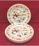 Farberware White Christmas dinner plates set of 4 Katherine Babanovsky - $20.00