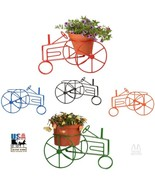 FARM TRACTOR PLANT STAND -Wrought Iron Flower Pot Holder in 5 Colors USA... - $59.97