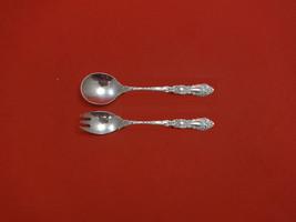 "Imperial Chrysanthemum by Gorham Sterling Silver Baby Set 2pc 4 3/4"" Custom - $113.05"