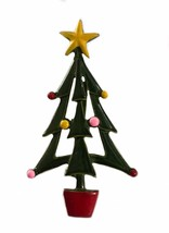 Vintage Christmas Tree Pin Brooch Holiday Jewelry Whimsical - $13.45