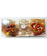 Holiday gold by indiana glass christmas candy serving dish set of 3 clear - $23.75