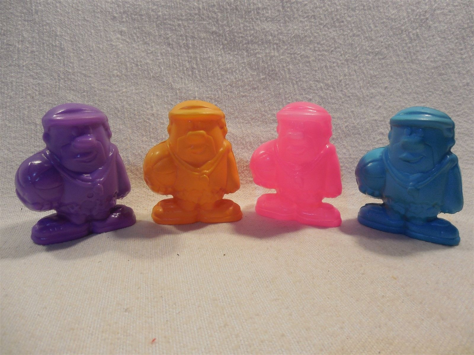 Flintstones 1990 Post Pebbles Cereal Premium Set 4 Vinyl Barney Rubble Squirters