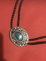 Article Heart Original Western Cowboy Middle Turquoise Bolo Tie Mens Fas... - $29.70