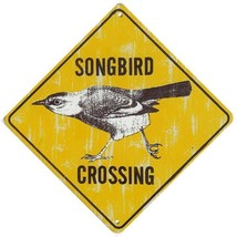"""Songbird Crossing Sign 6"""" Square Nature Metal Sign - $14.95"""
