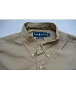 Ralph Lauren Poplin Classic Shirt L Tan Polo Pony NWT - $35.95