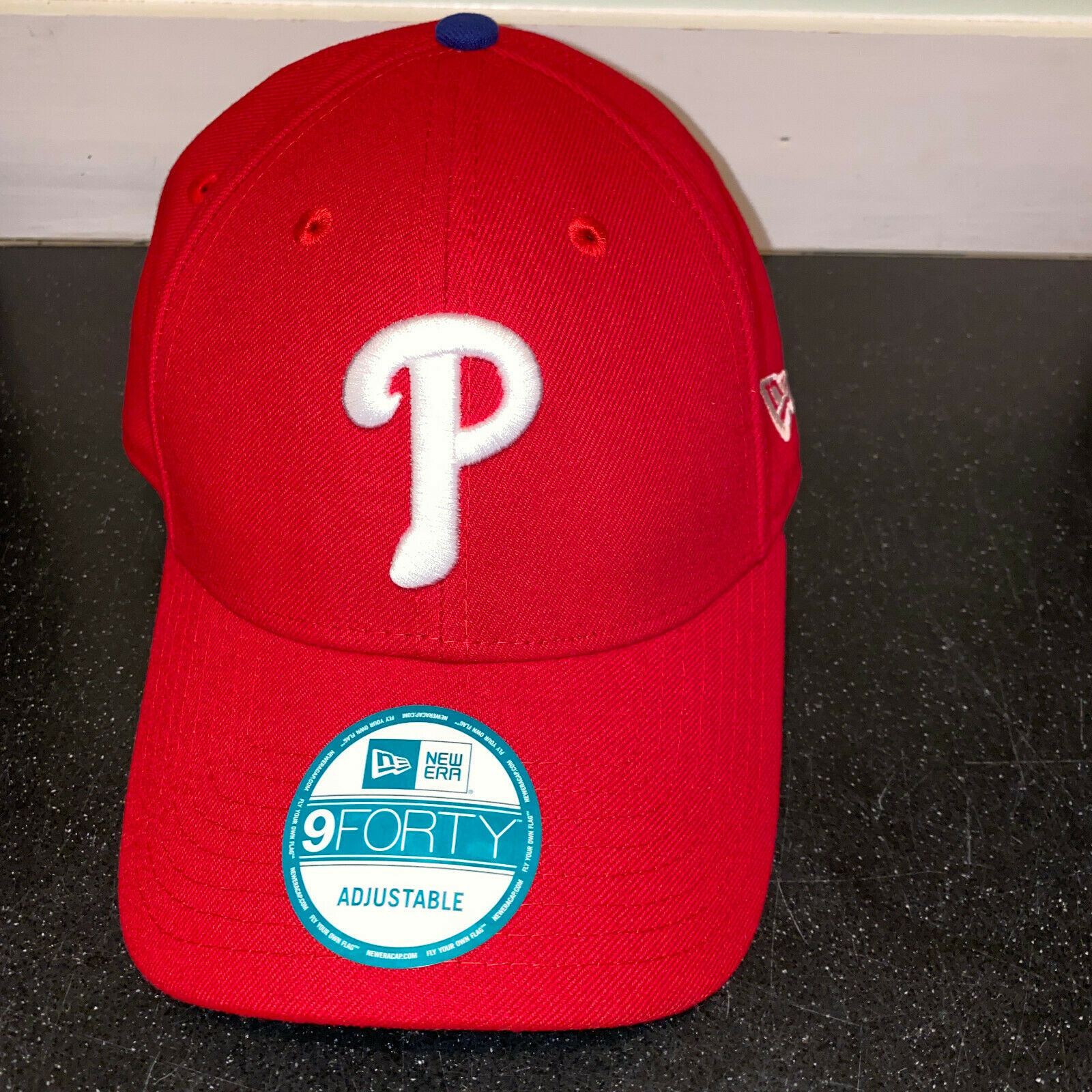 Primary image for Phillies Baseball Hat Mens OSFA New Era 9Forty Adjustable Cap Philadelphia New