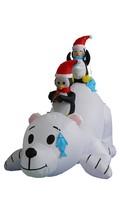 6 Foot Long Inflatable Penguins Fishing Polar Bear Christmas Yard Decora... - $98.99