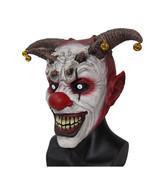 Scary Head Mask Toy Jingle Jangle Clown Horror Latex Halloween XMas x12048 - $29.85