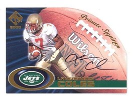 2000 Private Stock Laveranues Coles Private Signings Auto RC #24 Signed ... - $7.91