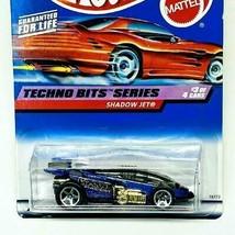 1998 Hot Wheels Red Car Card Techno Bits Series 3/4 Shadow Jet Purple 5s... - $8.99