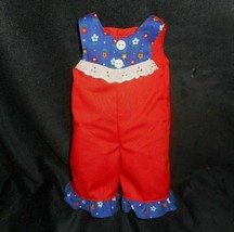 Vintage 1977 Ideal Tippy Tumbles Original Red & Blue Jumper / Outfit Replacement - $5.63