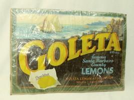 Vintage Goleta Famous Santa Barbara Sunkist Lemons Poster in Plastic - $19.79