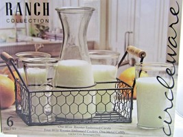 Circleware Ranch Collection Brunch Set Embossed Rooster Carafe Glasses C... - $28.39