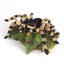 """5.25"""" Tarantula on Leaf Statue Animal Spider Figure Figurine Arachnid - $35.00"""