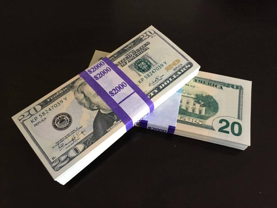 2.000 PROP MONEY REPLICA 20s New Style All full Print For movie Video Etc.