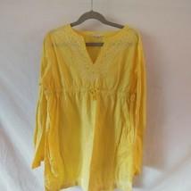 Lands End Kids Girls Yellow Dress Sz. Lg. 14 - $7.70