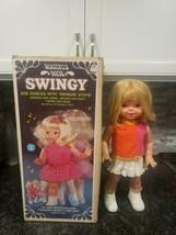 1967 68 Mattel Swingy Dancing Walking Doll Very Nice In Box Original  - $59.00