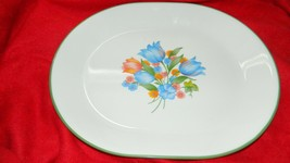 Corelle Fresh Cut Pattern 12.25 Inch Oval Serving Platter Free Usa Ship - $23.36