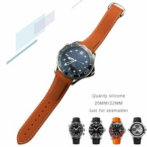 20 22mm Watchband Silicone Rubber Watch Strap Curved End Sports For Omega Bands - $42.29