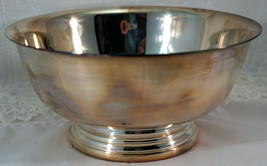 "Vintage GORHAM Paul Revere SILVER PLATE EP SERVING 6 1/2"" Bowl YC779  - $25.99"