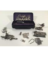 Vintage Lot of Greist Sewing Machine Attachments in Original Case - $29.99