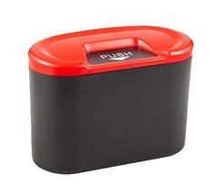 PANDA SUPERSTORE Creative Car Trash Cans/Green Box/Storage Box, Red