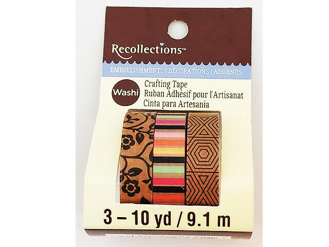 Recollections Washi Tape, 3 Rolls #463702