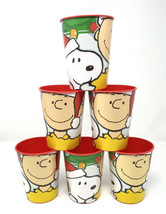 Lot of 6 Hallmark Schulz Peanuts Snoopy Charlie Brown Christmas Plastic ... - $28.04