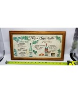 """Vintage Framed """"Wine and Cheese Guide"""" wall art - $18.69"""