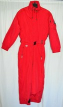 Tyrolia Snowsuit One Piece Womens Petite Size 12 Solid Red Vintage 1980s... - $148.38