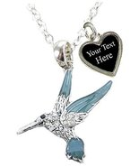 Holly Road Hummingbird Blue Green Silver Chain Necklace Jewelry Choose Y... - $19.79