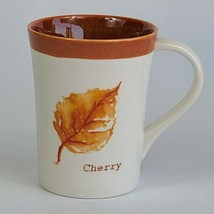 Starbucks 13 oz. White And Orange Cherry Leaf Ceramic Cup Mug2007 NICE - $8.90