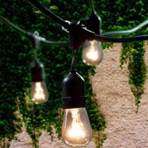 Lemontec Commercial Grade Outdoor String Lights with 15 Hanging Sockets ... - $49.17
