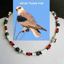 White Tailed Kite custom artisan handcrafted genuine zebra stone and art... - $80.00