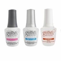 Gelish Terrific Trio Essentials Collection Soak Off Gel Nail Polish Kit,... - $31.67