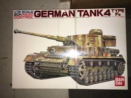 Bandai 1/15 Scale German Tank 4 Type F2 RC Plastic Model Kit New Japan G44 - $640.00