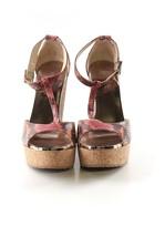 Jimmy Choo Wedge T Strap Sandals Sz 40.5 (US 10) - $149.99