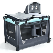 4 in 1 Convertible Portable Baby Playard w/ Toys & Music Center - $255.95