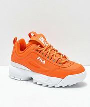 Neu Damen Fila Disruptor II Orange Schuhe Zwei 2 - $99.97