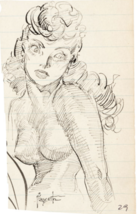 Frank Frazetta Female Study Original Sketch (2) Art 1950 Comic Book Art ... - $5,950.00