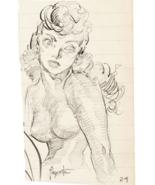 Frank Frazetta Female Study Original Sketch (2) Art 1950 Comic Book Art ... - $5,950.00