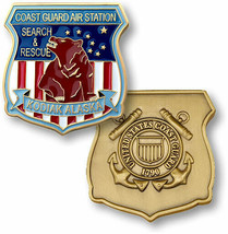 "COAST GUARD AIR STATION KODIAK SEARCH AND RESCUE 1.75"" CHALLENGE COIN - $17.14"