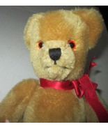 "LAURA ASHLEY plush mohair blend jointed TEDDY BEAR 10"", made in UK - $24.99"