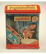 Disney Pocahontas Bandage Metal Tin Box Kid Care Band Aid Hinged Container - $14.84