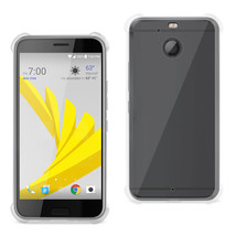 Reiko Htc Bolt Clear Bumper Case With Air Cushion Protection In Clear - $8.54